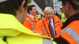 The mayor visits the Crossrail project