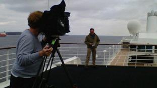 ITV News crew on the way to Nova Scotia