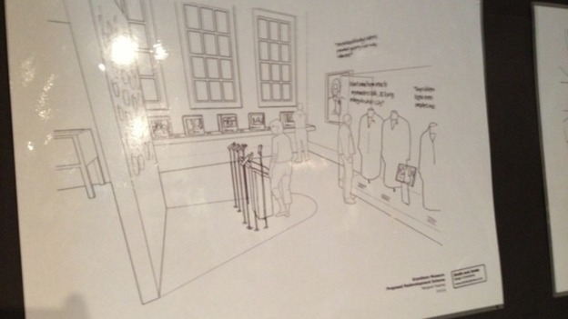 Plans for the interior of the Grantham Museum