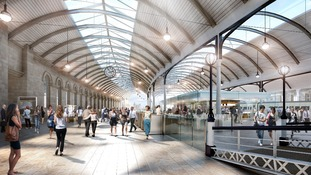 Artist's impression of how Newcastle central station will look.