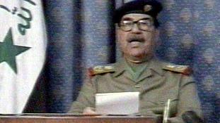 Iraqi President Saddam Hussein a