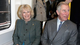 The Duchess of Cornwall and The Prince of Wales pictured together on London's Underground in January.
