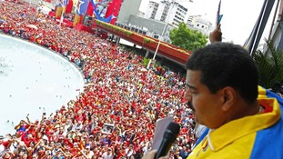 Thousands of people lined the streets in Venezuela today.