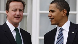 Prime Minister David Cameron with US President Barack Obama
