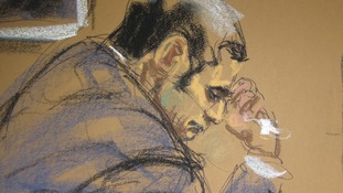 A courtroom sketch of Gilberto Valle, dubbed the 'cannibal cop' by local media.