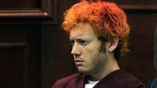 James Holmes seen in court shortly after the Colorado shootings