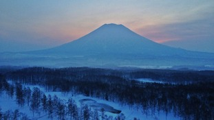 Sunrise on Mount Yotei, by Kristin