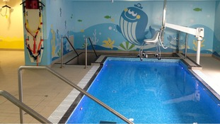 The new hydrotherapy pool at the Ryegate Children's Centre