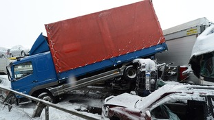 The A45 autobahn was closed after the incident took place.