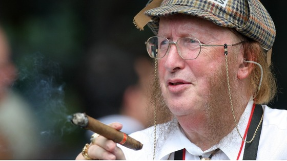 Racing commentator John McCririck