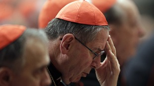 Cardinal Roger Mahony attending a prayer at Saint Peter's Basilica in the Vatican earlier this month
