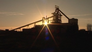 BLast furnace in sunset