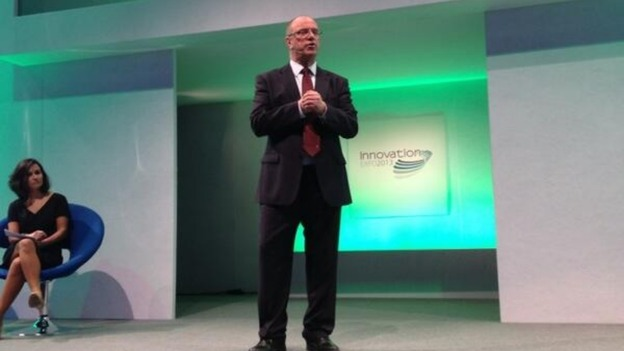 Sir David Nicholson on stage 