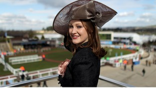 Camilla Bassett-Smith from Cheltenham poses for a picture during Ladies Day