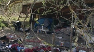 Homeless migrant camps in Northampton