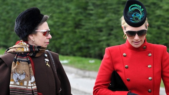 Princess Anne and Zara Phillips arrive for Ladies Day at the 2013 Cheltenham Festival