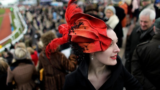 Ferniche Millinery poses for a picture during Ladies Day 