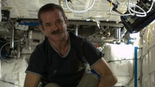 Colonel Chris Hadfield aboard the International Space Station