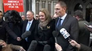 Sergeant Nightingale talks to the assembled press outside the court.