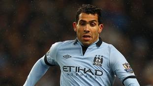 Manchester City's Carlos Tevez.