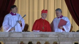 The new pope has been announced by senior Cardinal deacon Jean-Louis Tauran of France on the St Peter's Square balcony.