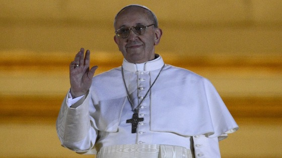 The new pope, Jorge Mario Bergoglio.