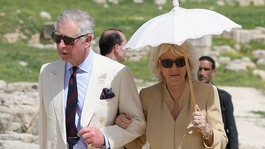 The Prince of Wales and Duchess of Cornwall visit the ancient Roman ruins of Jaresh in Jordan.