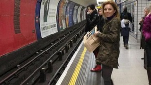 Geri Halliwell tweeted her way through her first tube journey in 17 years, 'Not so bad!!'