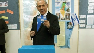 Netanyahu casting his vote