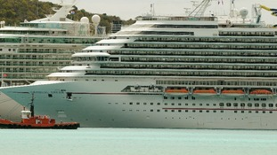 A view of the Carnival Dream cruise ship on a previous journey.