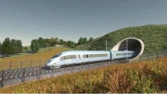 HS2 train - promotional image