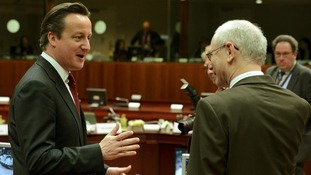 European Council President Herman Van Rompuy with David Cameron