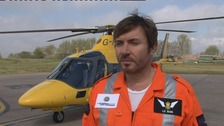 Simon Le Bon at Coventry's Baginton airport