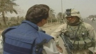 John greets a US soldier who had just arrived.