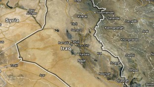This map shows some of the Iraq's main cities
