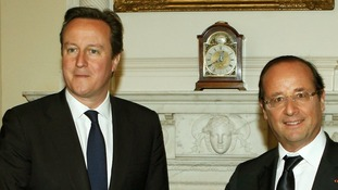 avid Cameron and France's President Francois Hollande