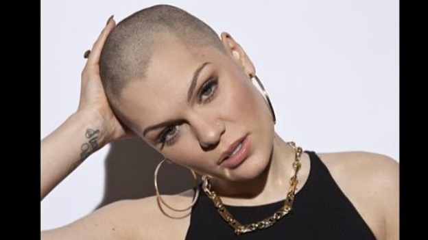 Jessie J pictured with her newly shaved head.