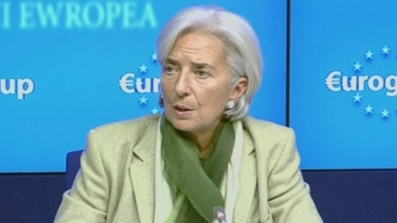 International Monetary Fund Managing Director Christine Lagarde speaking early this morning.