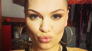 Jessie J posts a picture of her newly bald head in aid of Comic Relief.