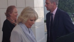 Duchess of Cornwall at the parliament building in Saudi Arabia