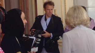 Camilla at Saudi's parliament building today