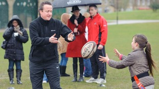 Cameron announced that school sport is to get a £150 million a year cash injection
