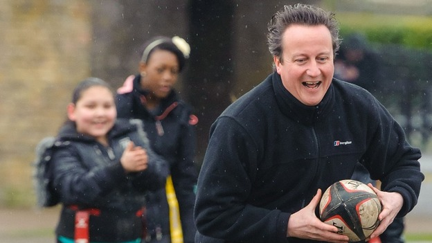 "Cameron said: ""We've got a crisis of childhood obesity at the moment so we want to see that cut."""