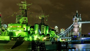 HMS Belfast with London Bridge in the background