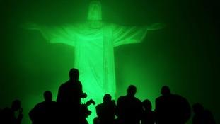 The Christ the Redeemer statue in Rio de Janeiro, Brazil