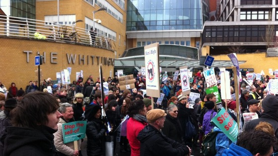 Protest outside Whittington Hospital