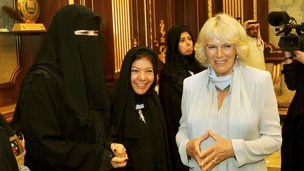 The Duchess of Cornwall meets some of Saudi Arabia's first female MPs