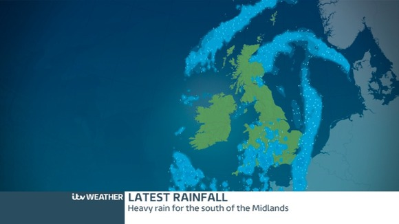 Latest rainfall radar picture