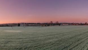 View of the Malvern Hills, Worcester