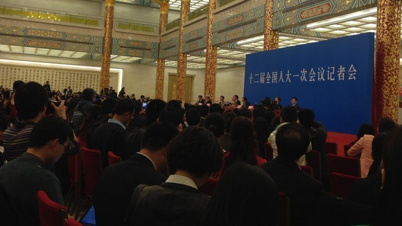 Li Keqiang speaks at his first press conference as China's premier.